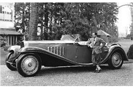 Jean Bugatti with the Royale