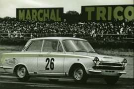 1963 Ford Lotus Cortina on the track
