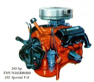 Fairlane 500 Thunderbird V8 engine