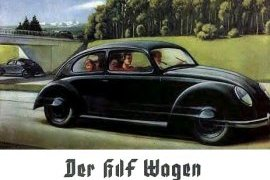 Early German advertisement for the KdF-Wagen