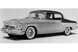 1955 Studebaker Commander V8 Regal Ultra Vista Sedan