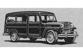 1955 Willys 4 x 4 Jeep Station Wagon