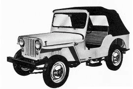 1956 Willys 4 x 2 Model DJ3A Dispatcher Jeep