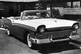 1957 Ford Fairlane 500 Sunliner Convertible, Model 768