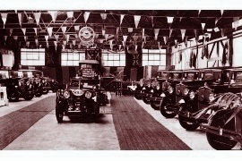 1932 Morris display at Guildford Distributors