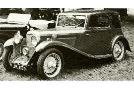 1934 Lagonda Rapier 10 HP Fixed-head Coupe body by Abbott
