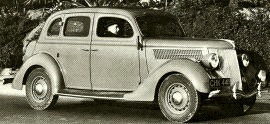 1936 Ford V8, Model 68 Fordor Saloon