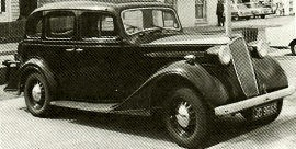 1937 Vauxhall 25 HP G-Series Short Wheelbase
