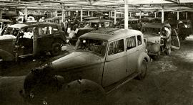 1944 Humber Pullman Limousines on the production line