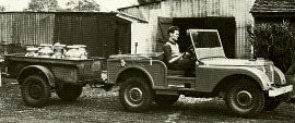 1947 Rover - Surplus Willys Jeep Re-Bodied Land Rover Prototype