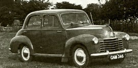 1949 Vauxhall Wyvern and Velox