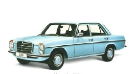 1975 Mercedes Benz 200 4 Door