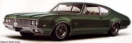 1969 Oldsmobile Cutlass S Sports 2 Door (6 and V8)