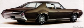 1969 Oldsmobile Cutlass Town 4 Door (6 and V8)
