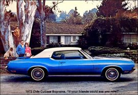 1972 Oldsmobile Cutlass Supreme Hardtop 2 Door