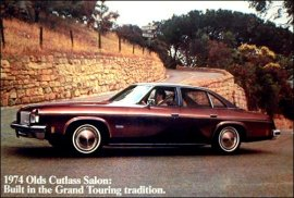 1974 Oldsmobile Cutlass Salon Colonnade Hardtop 4 Door