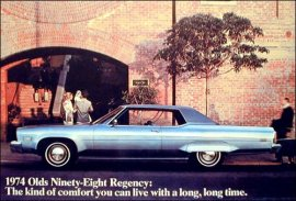 1974 Oldsmobile 98 Regency 2 Door