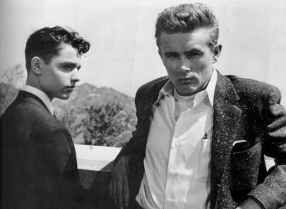 Sal Mineo (left) with James Dean in Rebel Without A Cause