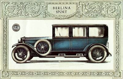 Poster for the Fiat V12 Berlina Sport