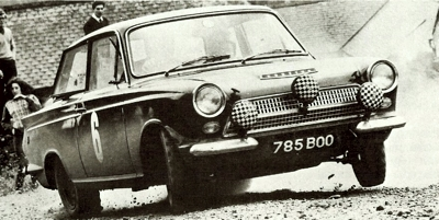 1963 Ford Cortina pictured during the Scottish Rally