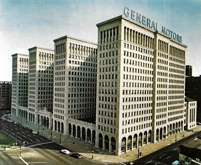 General Motors building on Brodway, New York, circa 1972