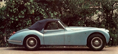 Modified XK 120, powered by a 3442cc 190 bhp version of the XK engine