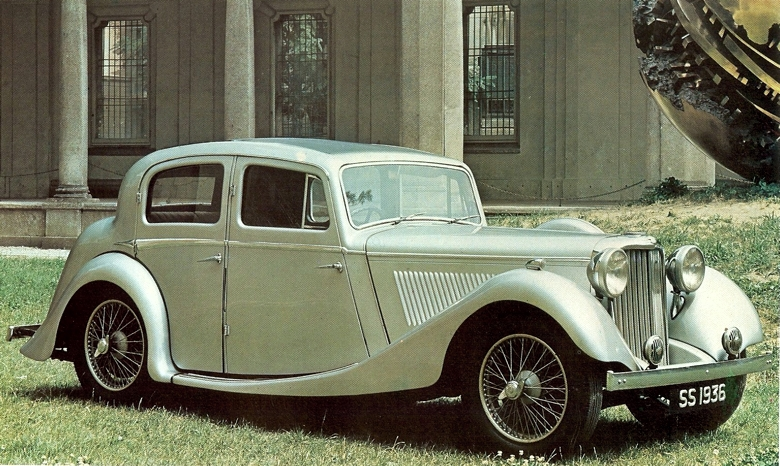 1936 SS Jaguar 1½ litre four-door sports sedan