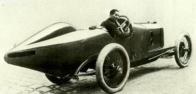 Boillot pictured at the ACF Grand Prix in 1914