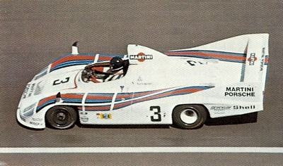 Porsche 936 in action at the 1977 Le Mans