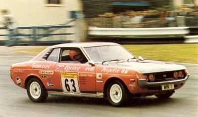 Toyota Celica GT driven by Win Percy at Mallory Park, UK