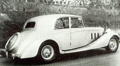 Lanchester Straight 8 with Vanden Plas touring saloon body