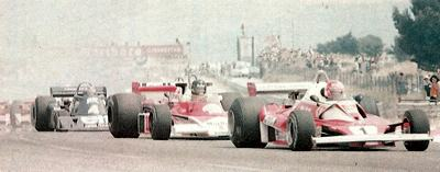 Niki Lauda leads the 1976 French Grand Prix at Paul Ricard
