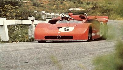 Nino Vaccarella in his Alfa 33 during the 1971 Targa Florio