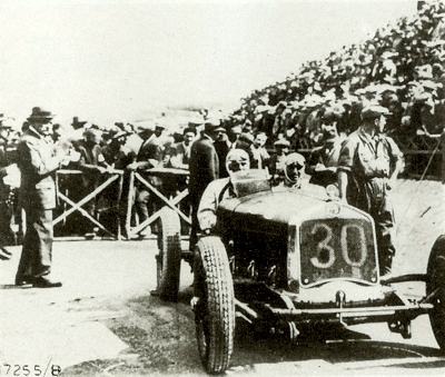 Achille Varzi and the PS Alfa Romeo at the 1930 Targa Florio