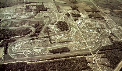 Aerial view of Watkins Glen circa 1969