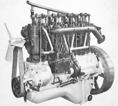 45 b.h.p. Benz compression engine of 1923