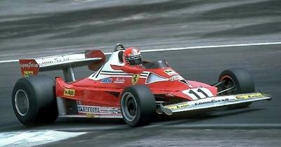 Reutmann driving the 312T3 Ferrari during the 1978 South African Grand Prix