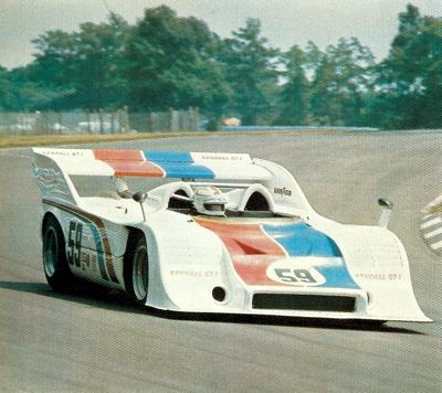 George Follmer in the Can-Am Porsche 917/10 at Watkins Glen during 1973
