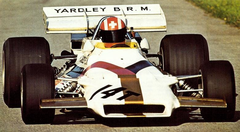 Jo Siffert driving the Formula One Yardley-sponsored BRM in 1971
