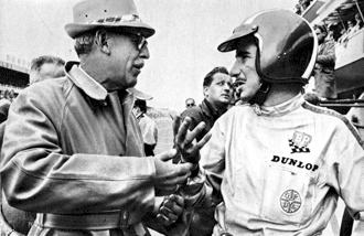 Jo Siffert with Von Hanstein at Le Mans