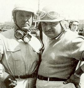 Jose Gonzales (right) with 1950 World Champion Nino Farina