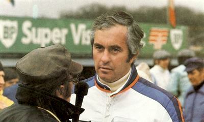Roger Penske being interviewed