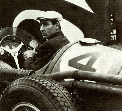 Roy Salvadori at the wheel of Syd Greene's Gilby Engineering Maserati 250F Formula One car