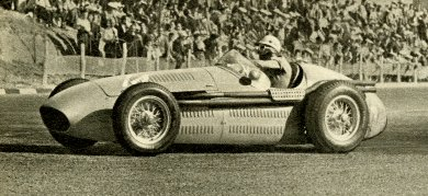 Maserati 250F Formula 1, driven by Luigi Musso at the 1954 Spanish Grand Prix, Barcelona