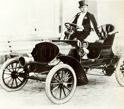 1904 Franklin with Wallace Beery at the wheel