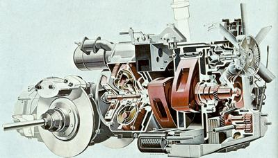 2-Rotor Wankel engine which powered the Ro80