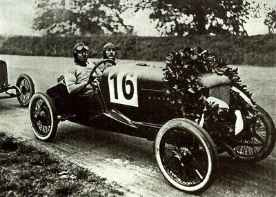 1923 1.3 liter NSU after winning a race at Avus