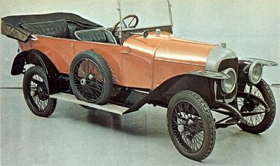 1918 Rolland-Pilain RP5, which was fitted with a 1928cc four-cylinder engine