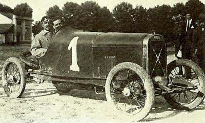 Abele Clerici poses in his 1100cc Salmson at Cremona in 1924