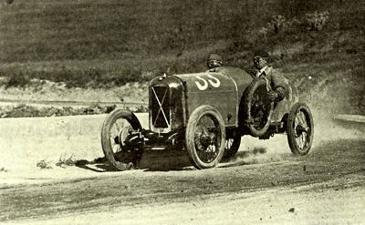 A Salmson (driver unknown) in the Targa Florio during the early 1920's